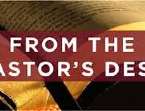 Pastor's Desk Decemeber